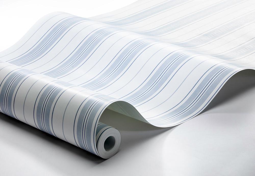 Hamnskar Stripe - White / Shades Of Blue