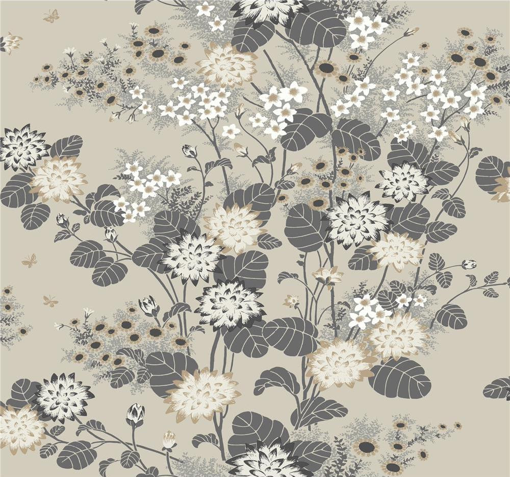 Chinese Floral - Taupe