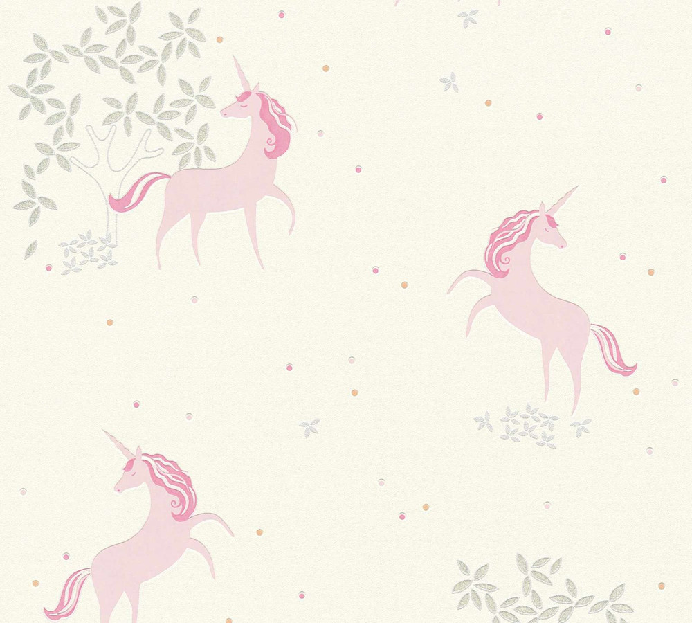 UNICORN FLORAL - ROSE PINK / OFF WHITE