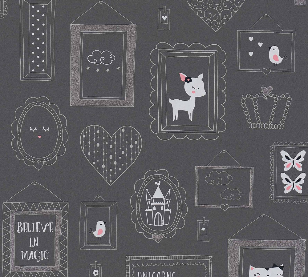 BABY ANIMALS - BLACK / GLITTER