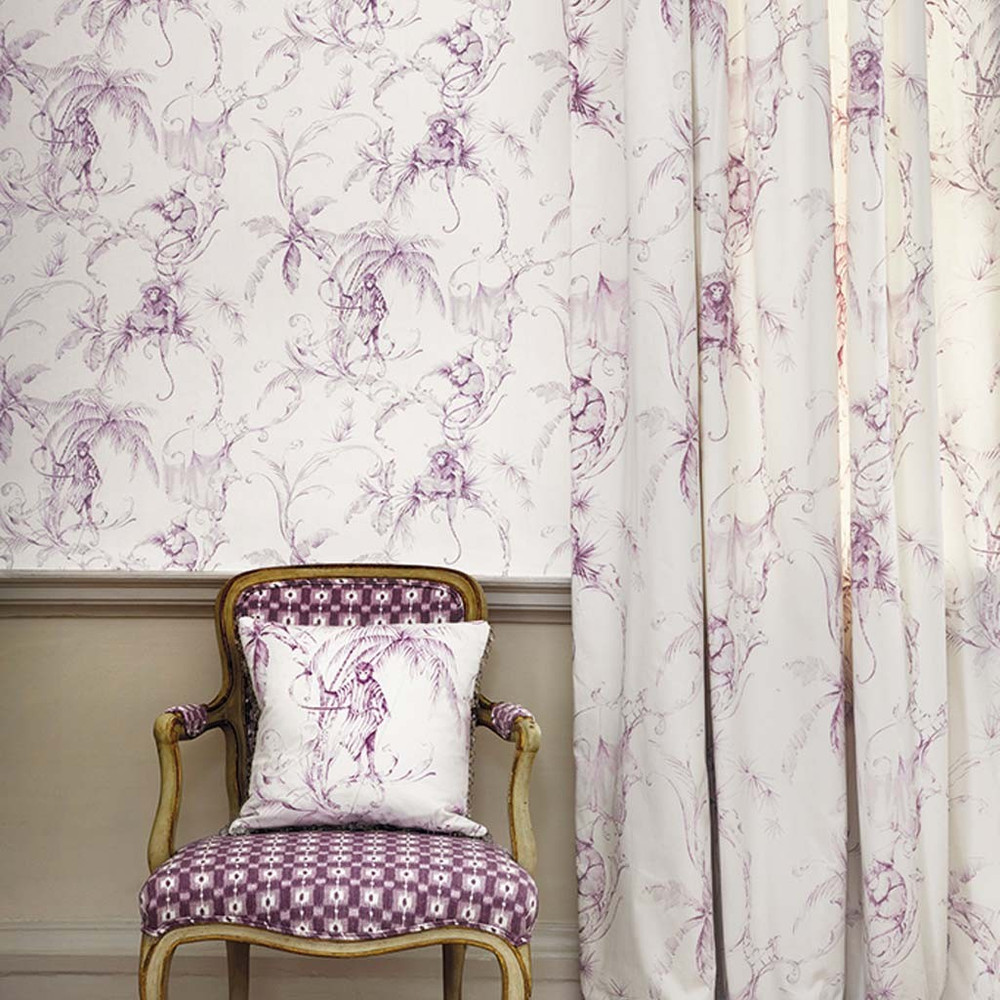 BARBARY TOILE - AMETHYST / WHITE
