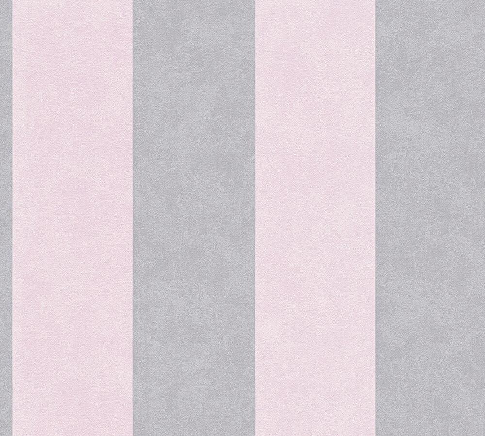 Vinyl Stripe - Rose Pink / Grey