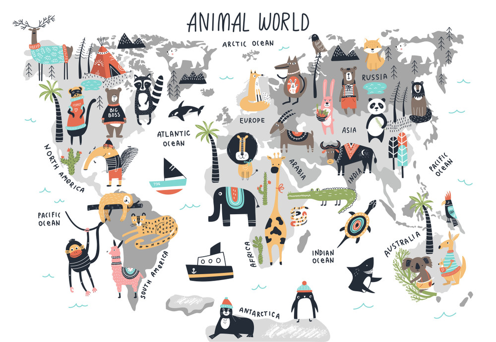 MURAL - ANIMAL WORLD