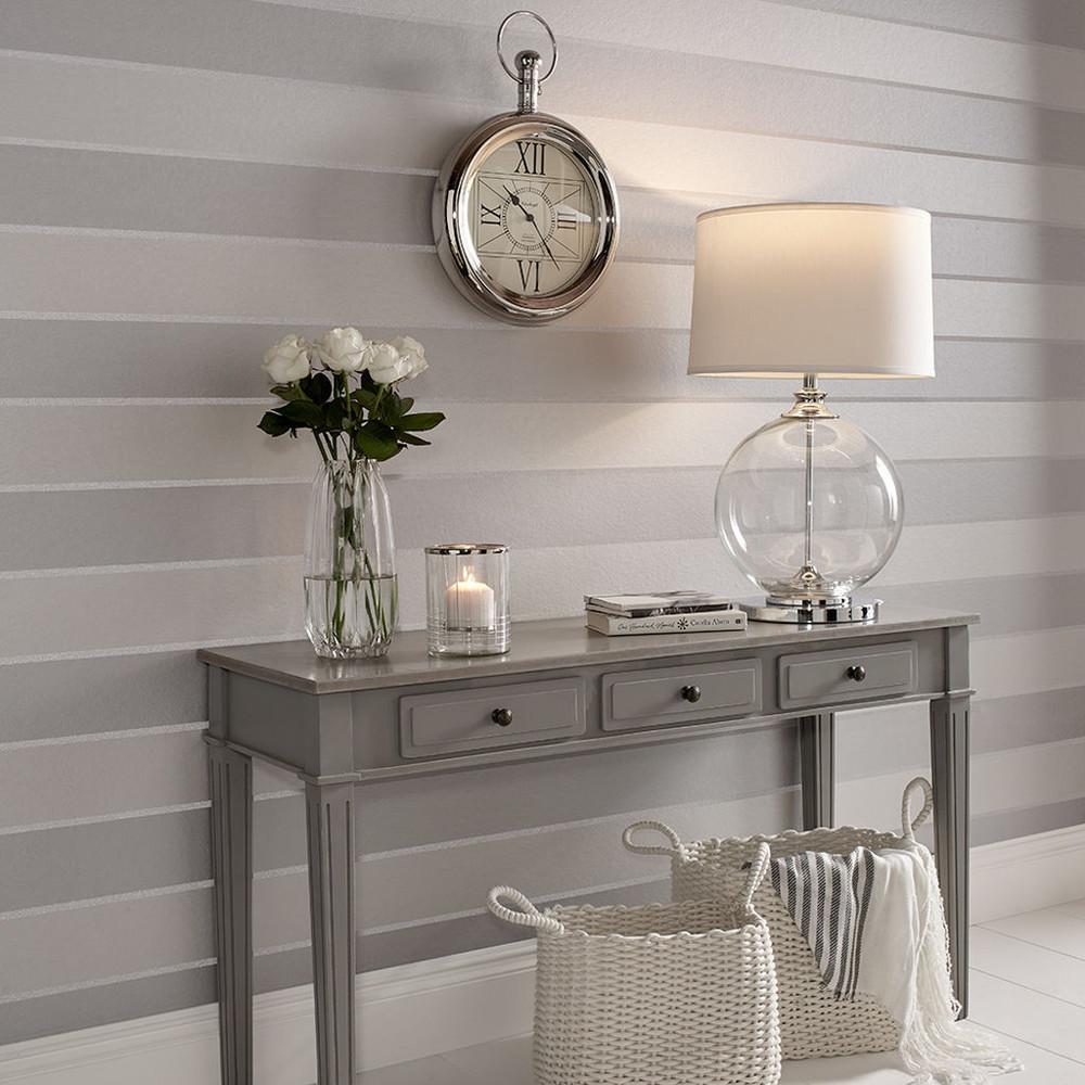 Baroque Beaded Stripe - Platinum