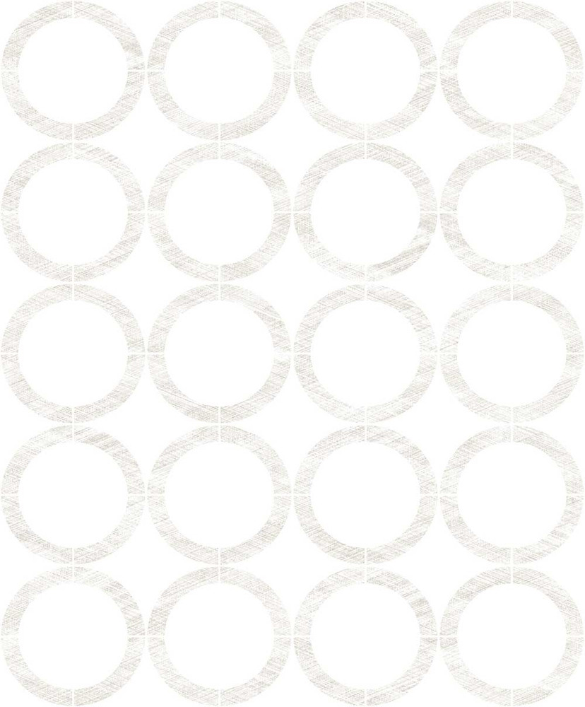 Cercles - Silvery Grey / White