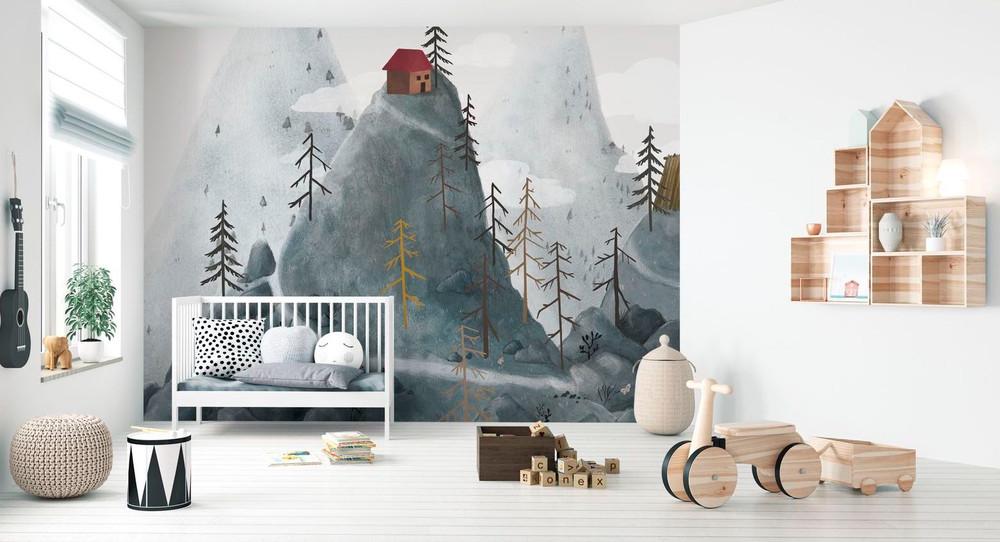 Mural - Village Fantasy Mountains (Per Sqm)