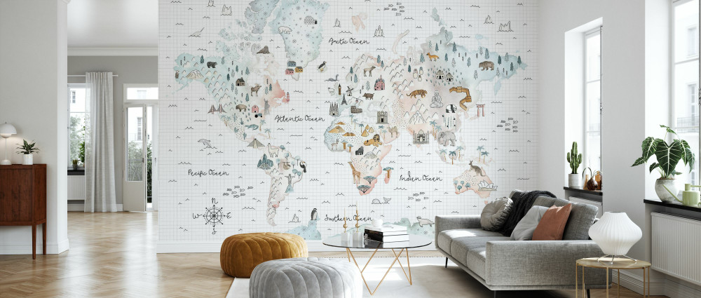 Mural - World Traveler (Per Sqm)