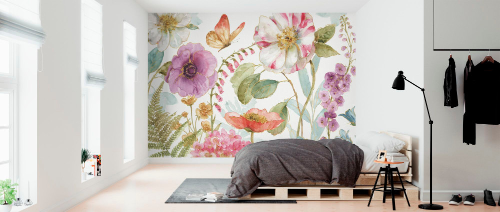 Mural - Rainbow Seeds Flowers (Per Sqm)