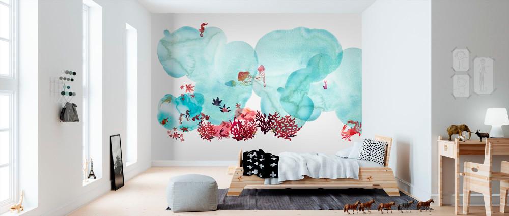 Mural - Water Colour Coral I (Per Sqm)