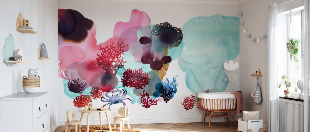 Mural - Water Colour Coral Ii (Per Sqm)