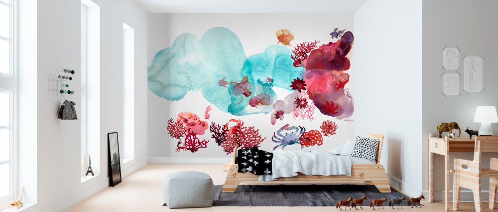 Mural - Water Colour Coral Iii (Per Sqm)