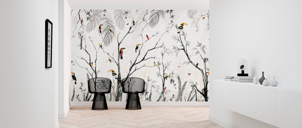 MURAL - TROPICAL CHARCOAL (PER SQM)