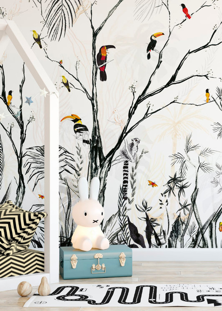 Mural - Tropical Charcoal (Per Sqm)