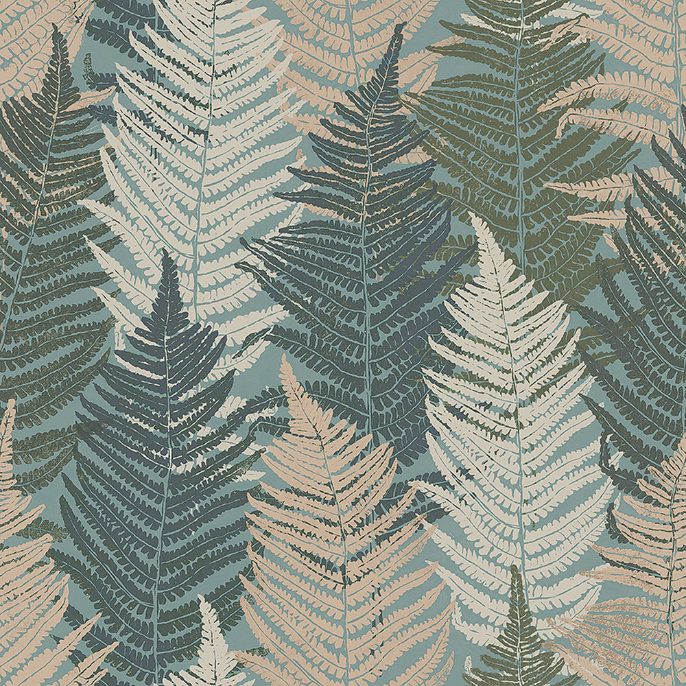 Fern Forest - Blue Green / Neutral