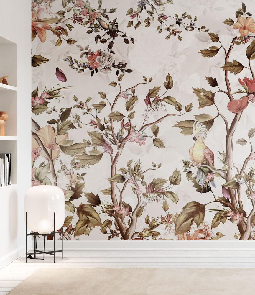 Mural - Parrot In Blossom (Per Sqm)