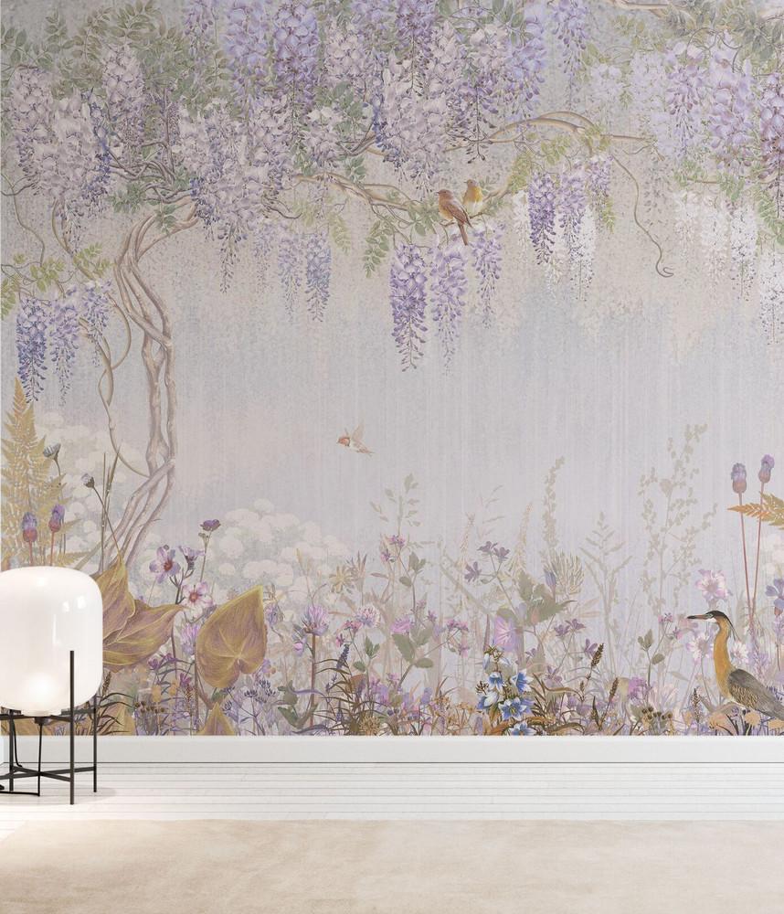 Mural - Purple Meadow (Per Sqm)