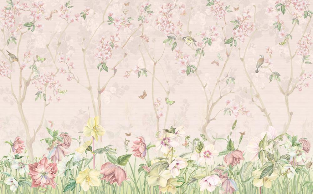 Mural - Pink Meadow (Per Sqm)