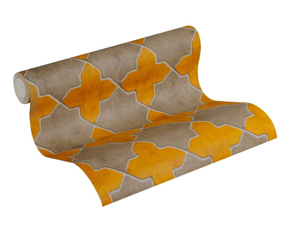 Deco Tile - Ochre / Taupe