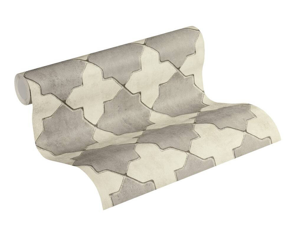 Deco Tile - Cream / Grey