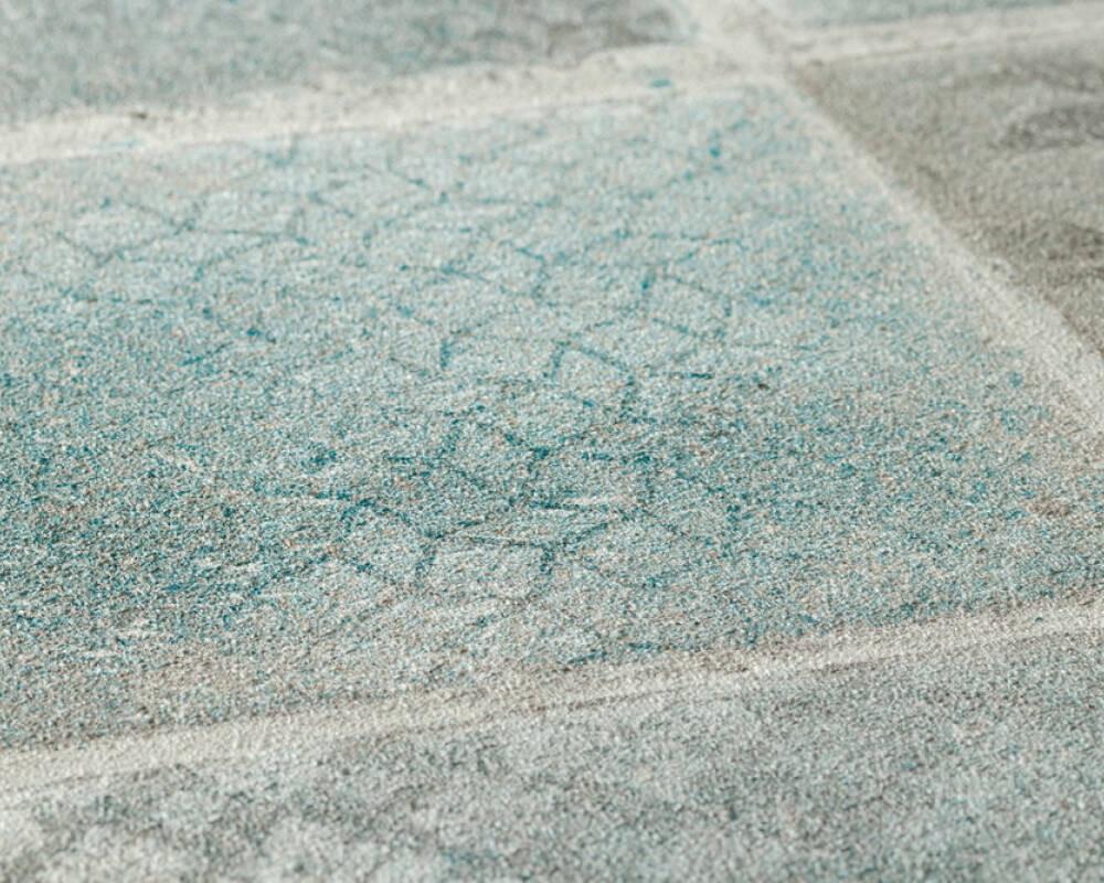 Neue Bude Tile - Turquoise / Cream