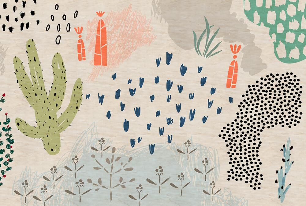 Mural - Crayon Garden 2 (4m X 2.7m)