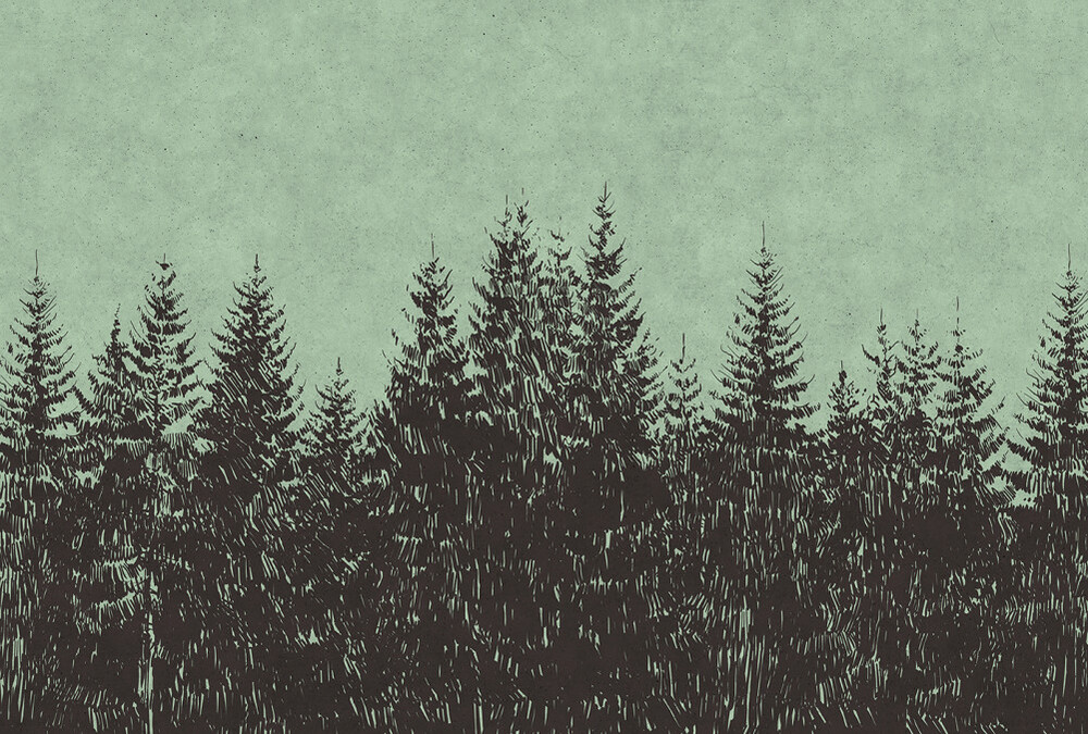 Mural - Black Forest 2 (4m X 2.7m)