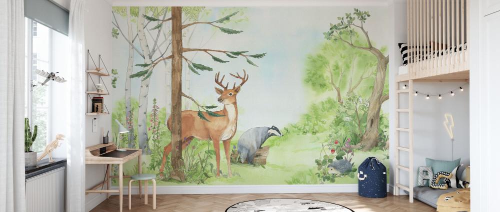 Mural - Forest Animal Friends (Per Sqm)