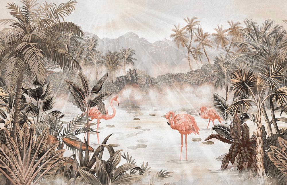 Mural - Flamingo Essay Sepia (Per Sqm)