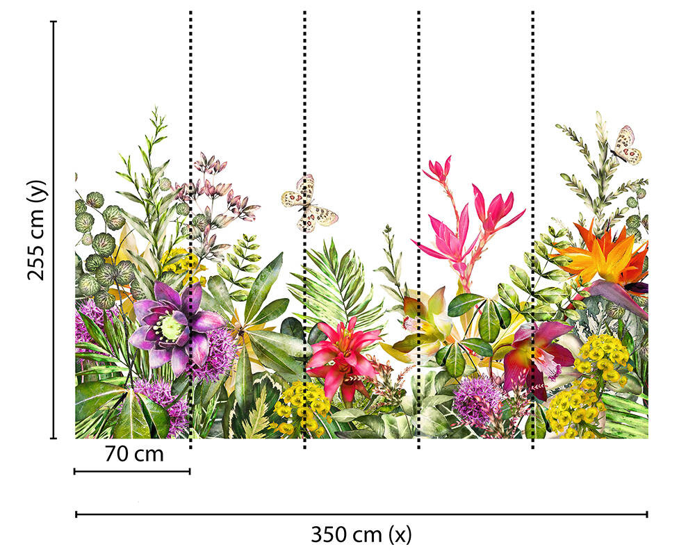 Mural - Motley Flowers (3.5m X 2.55m)