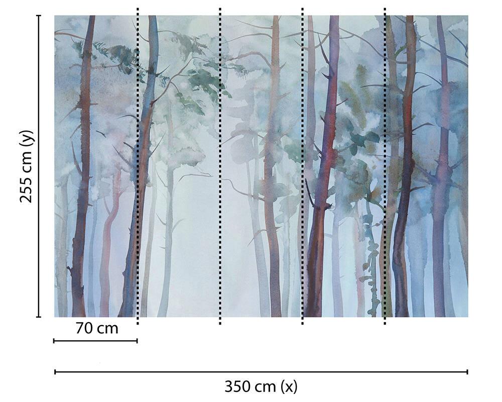 MURAL - AQUARELLE FORES (3.55m x 2.55m)