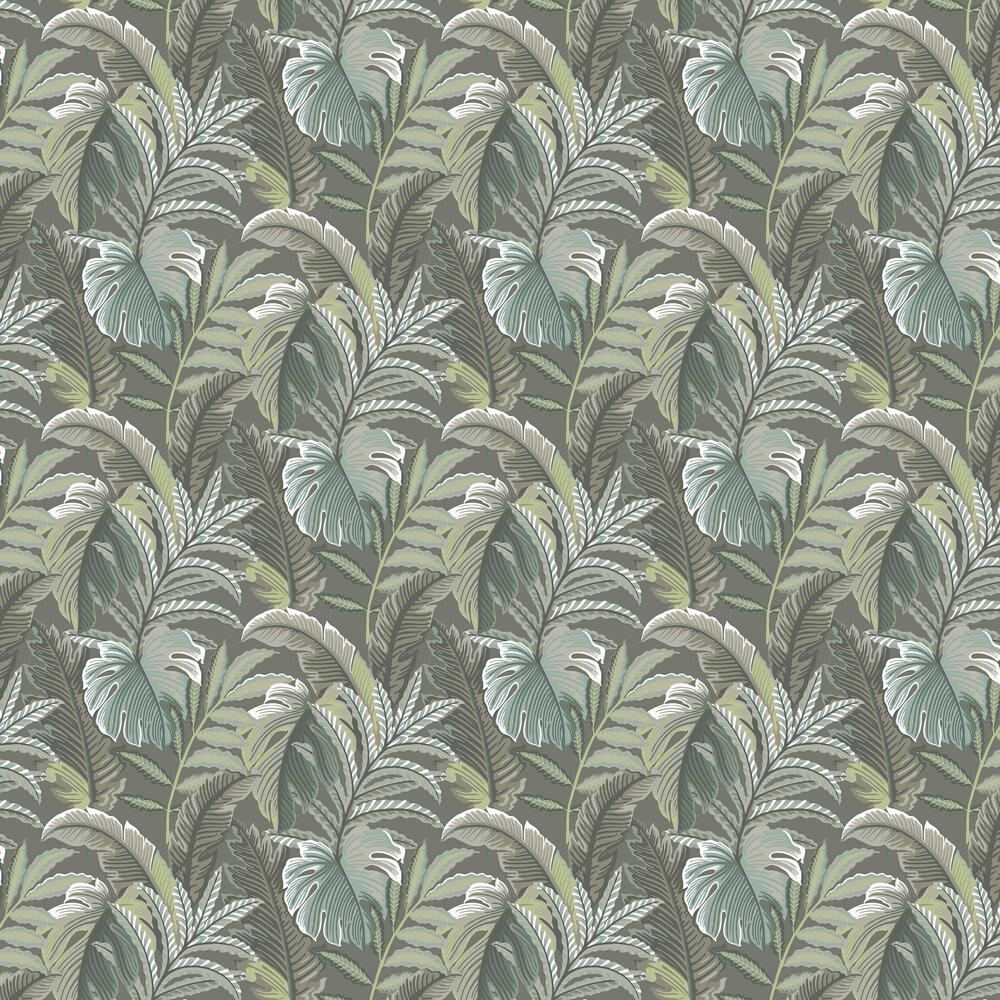 Tropical Leaf - Grey