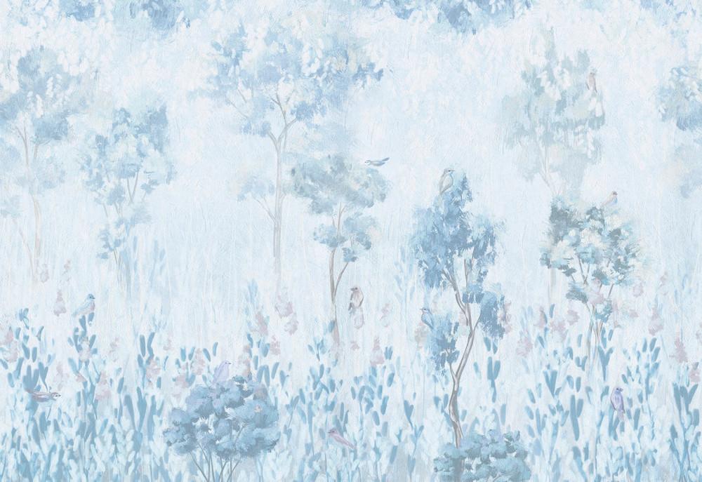 Mural - Morning Vegetation Blue (Per Sqm)