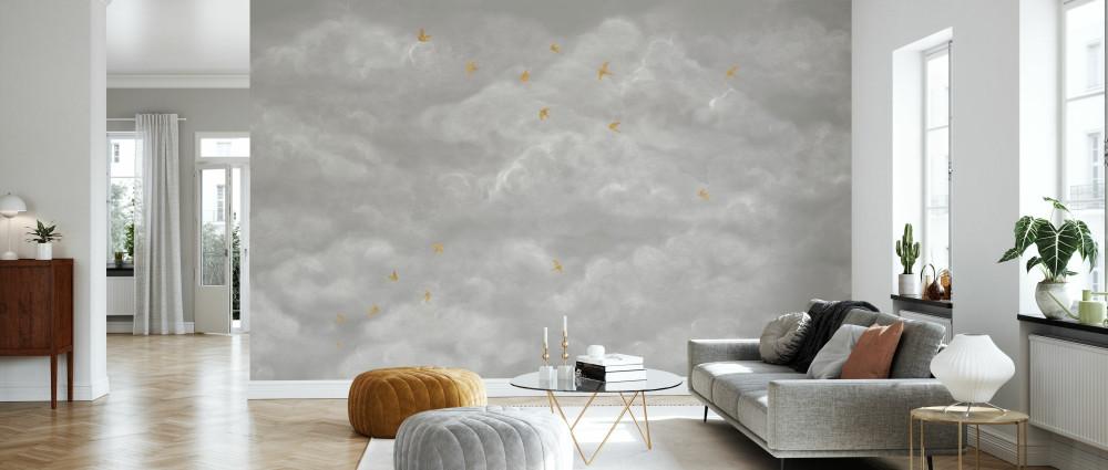 Mural - Tender Clouds Greige (Per Sqm)