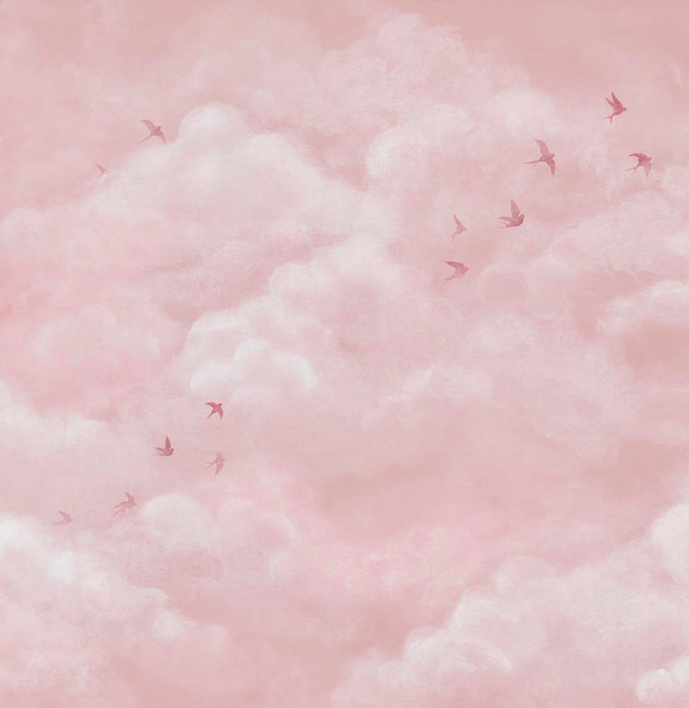 Mural - Tender Clouds Pink (Per Sqm)