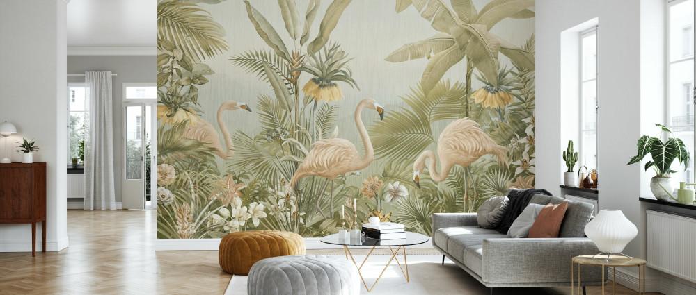 Mural - Flamingo Eden (Per Sqm)