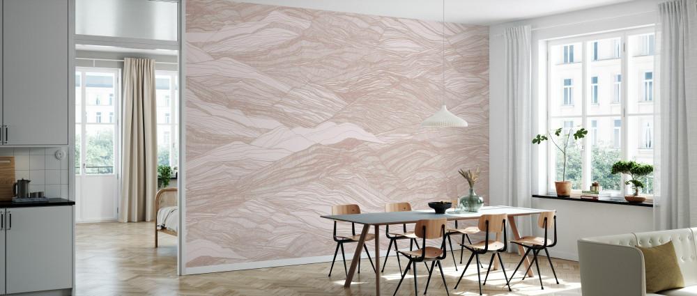 Mural - Duna Large Soft Pink (Per Sqm)