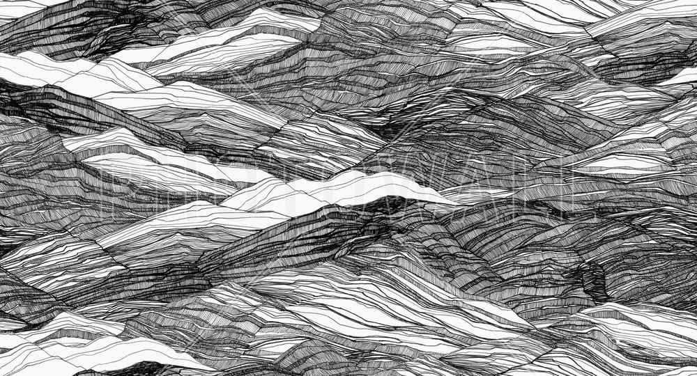 Mural - Duna Large Monochrome (Per Sqm)