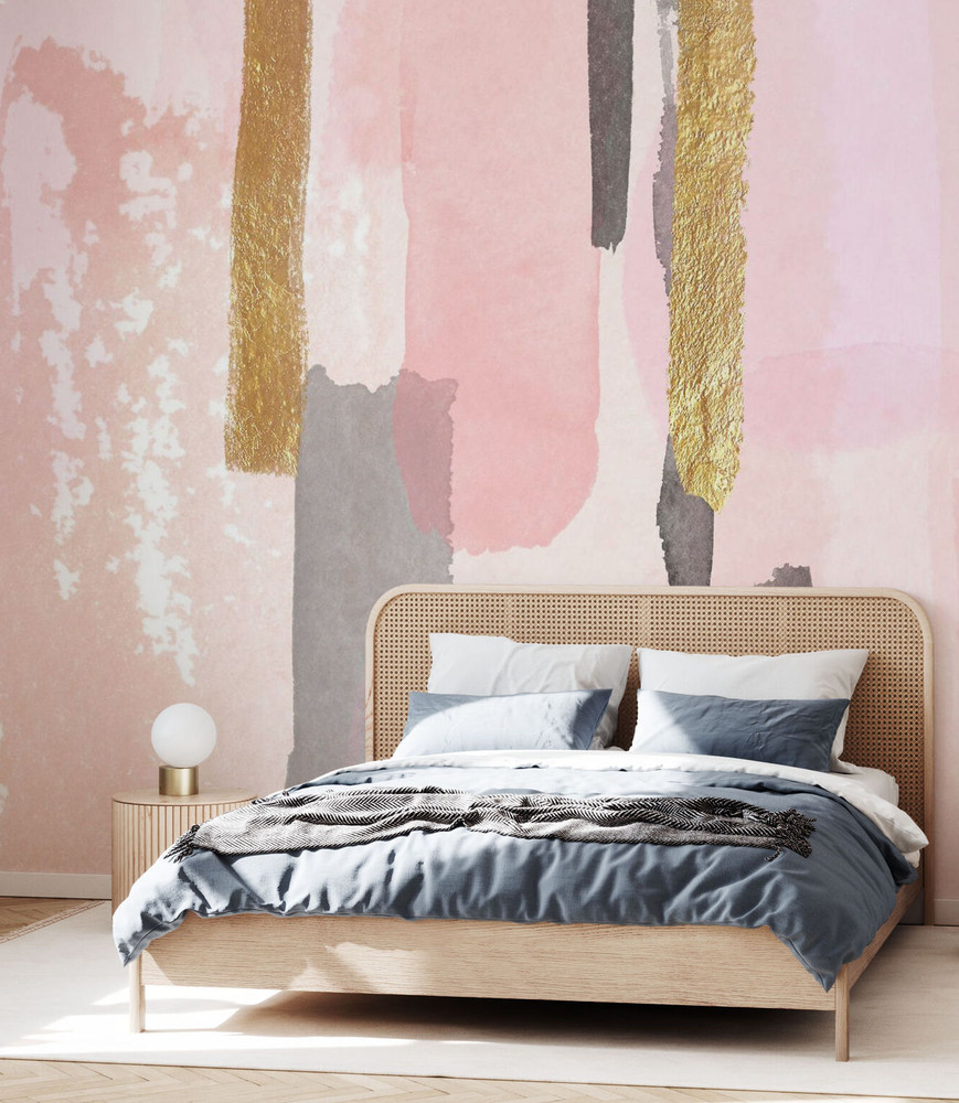 Mural - Pink And Gold Decor (Per Sqm)