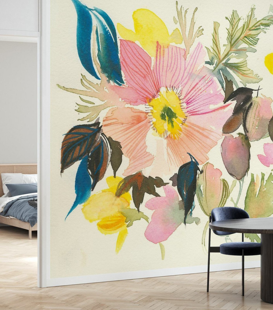 Mural - Pastel Garden (Per Sqm)