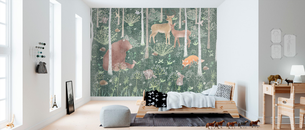MURAL - WILDLIFE GREEN (PER SQM)