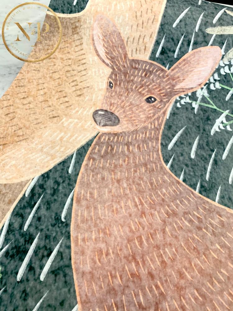 Mural - Wildlife Green (Per Sqm)