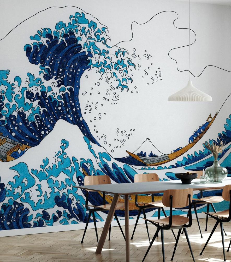 Mural - Great Wave Of Kanagawa (Per Sqm)