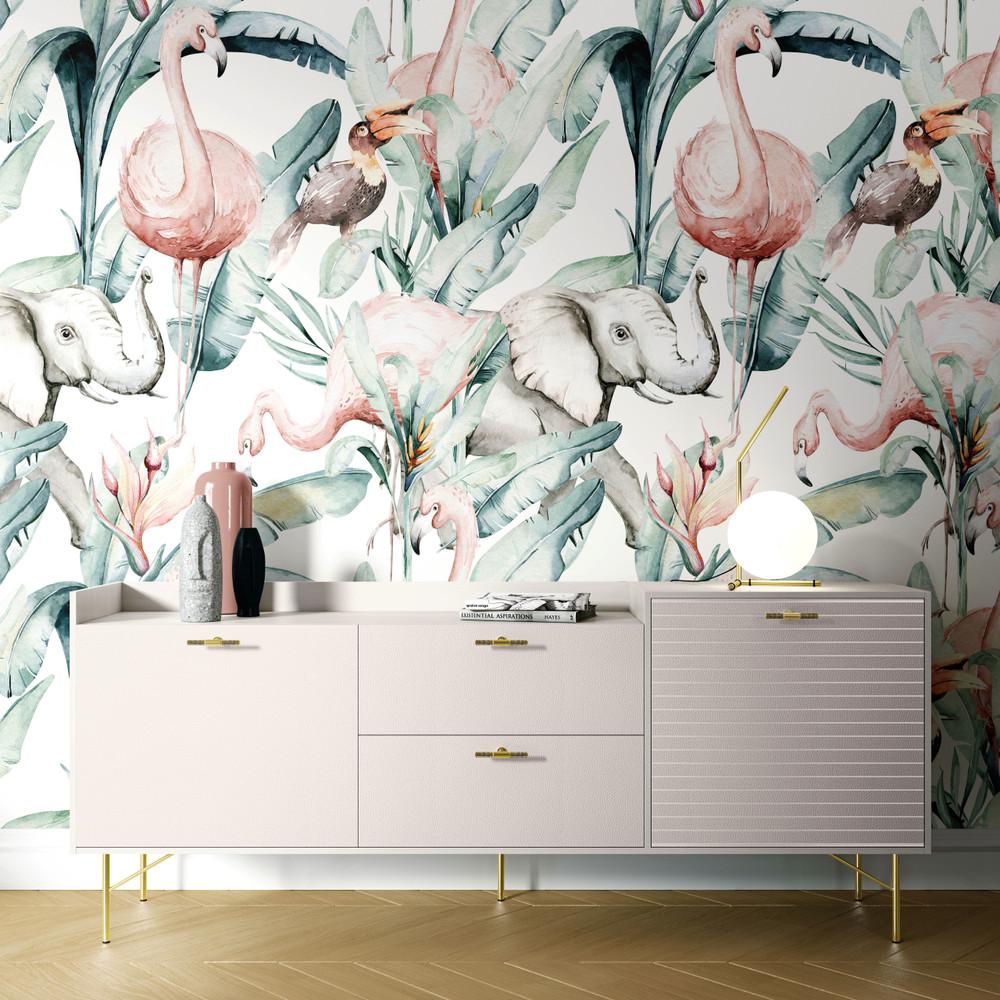 Mural - Flamingo Lake(Per Sqm)