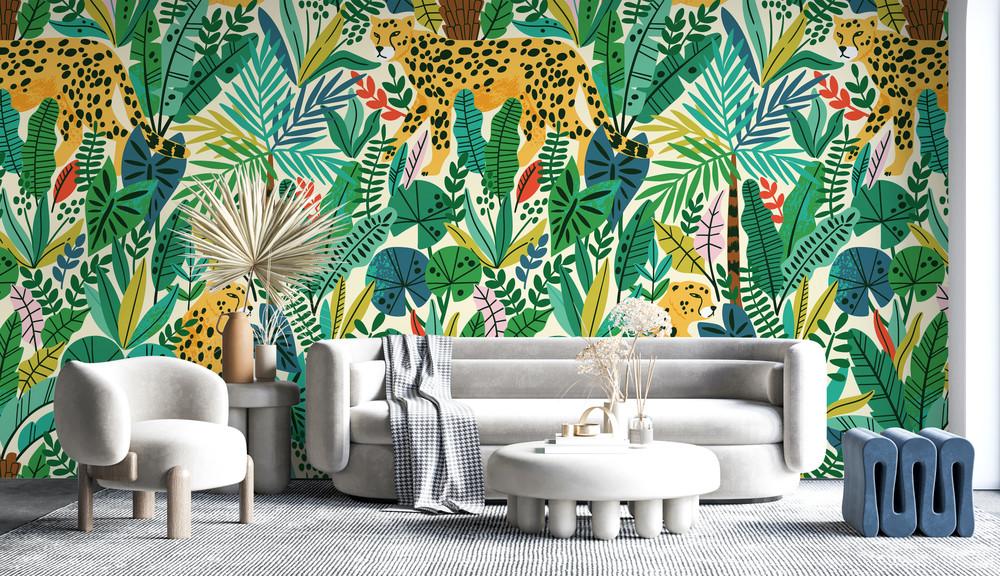 Mural - Cheetah Green (Per Sqm)
