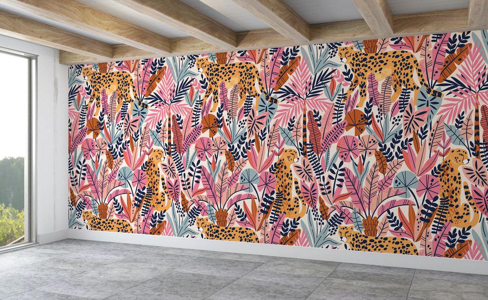 Mural - Cheetah Pink (Per Sqm)