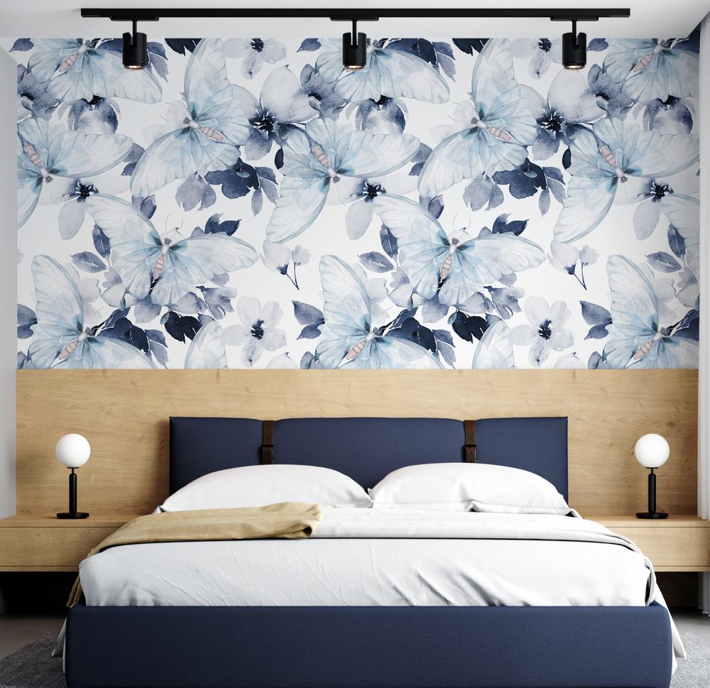 Mural - Watercolour Butterfly Blue (Per Sqm)