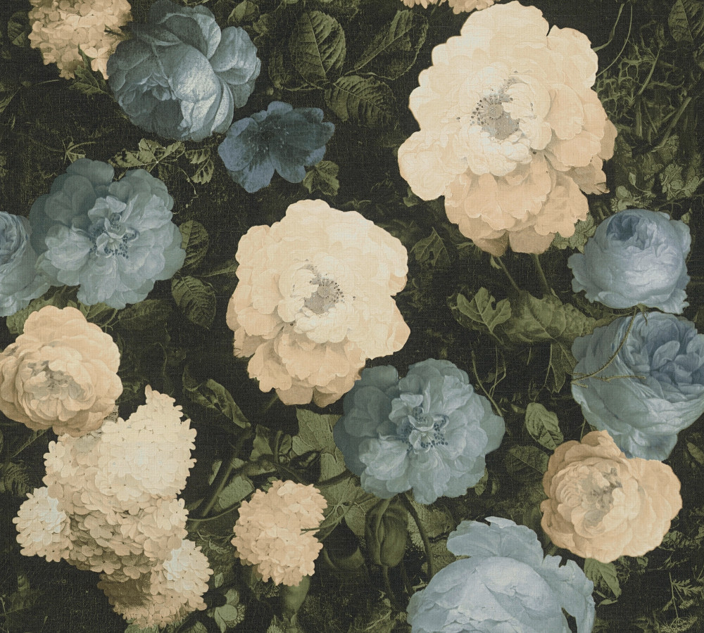 HISTORY FLORAL - CREAM / BLUE