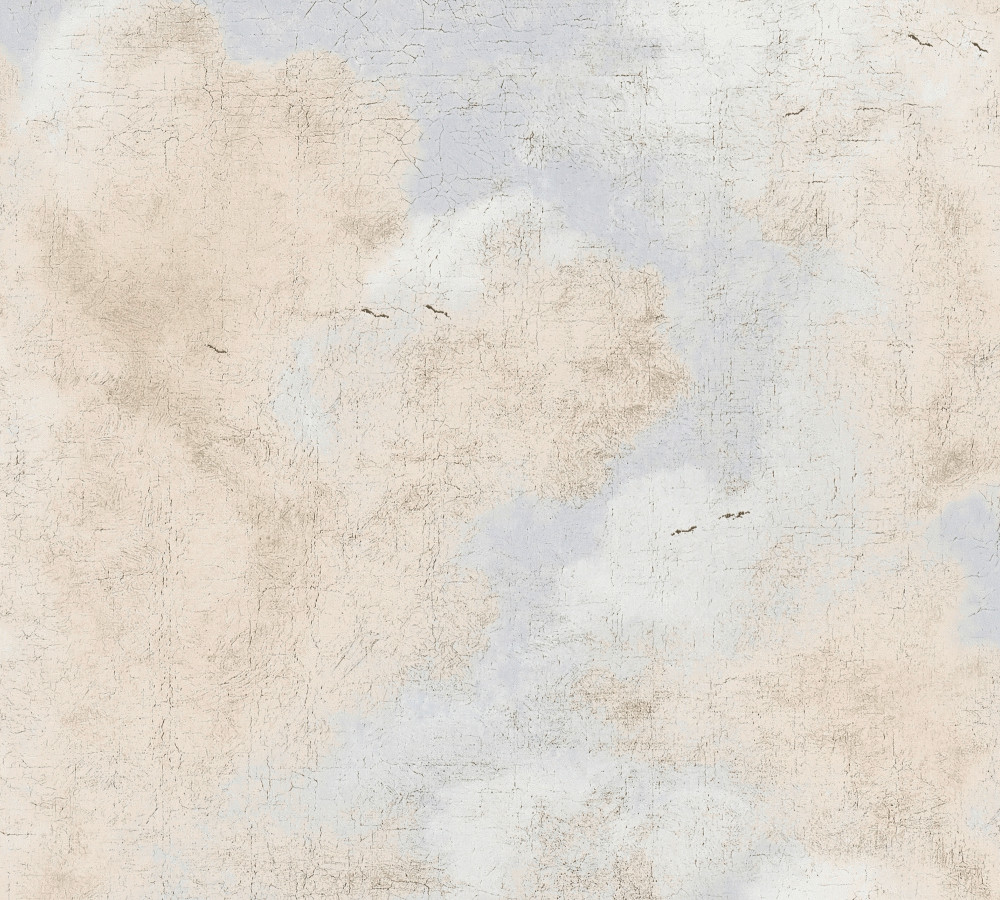 DISTRESSED CLOUDS - BLUE / BEIGE