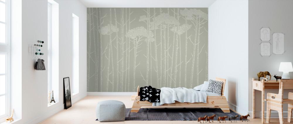 Mural - Tree Tops Sage Green (Per Sqm)