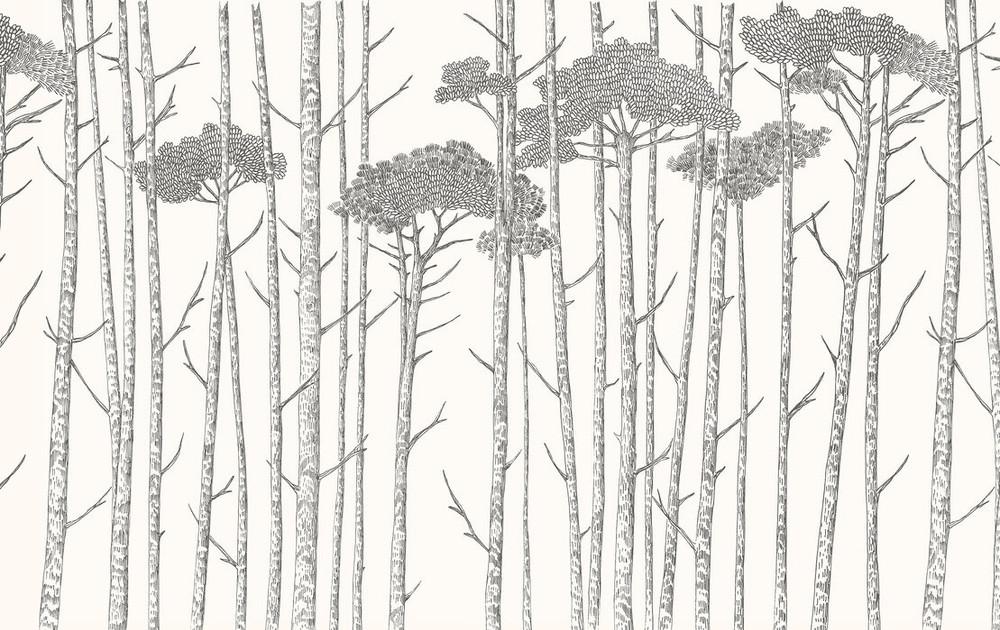 MURAL - TREE TOPS BLACK(PER SQM)